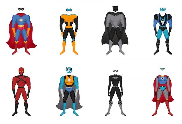 Conjunto de disfraces de superhéroe