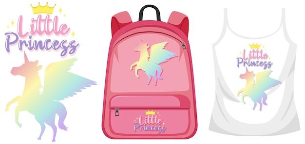 Conjunto de disfraz con logo de unicornio.