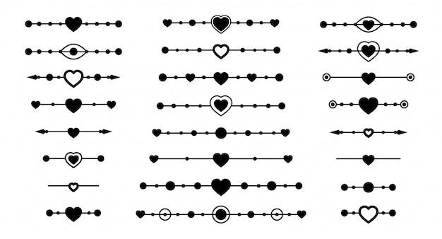 Conjunto divisor de corazón