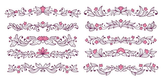 Conjunto de divisor de fantasía ornamental rosa