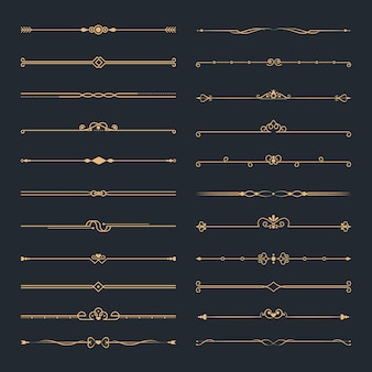 Conjunto divisor ornamental caligráfico