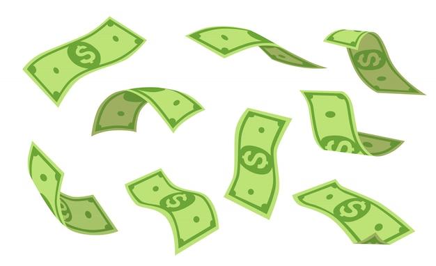 Conjunto de dólares voladores