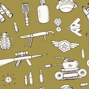 Conjunto de doodle dibujado a mano de corrupción