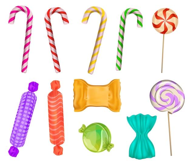 Conjunto de dulces coloridos