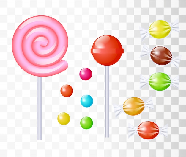 Conjunto de dulces dulces