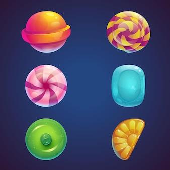 Conjunto de dulces de gelatina multicolor