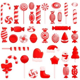 Conjunto de dulces navideños.