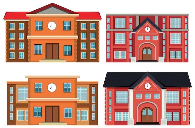 Conjunto de edificios exteriores.