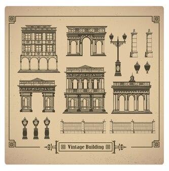 Conjunto de edificios retro