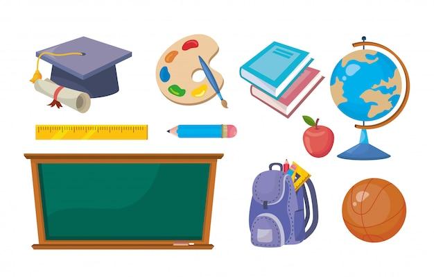 Conjunto de educación elemental creativa para aprender.