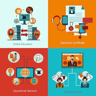Conjunto de educación en línea