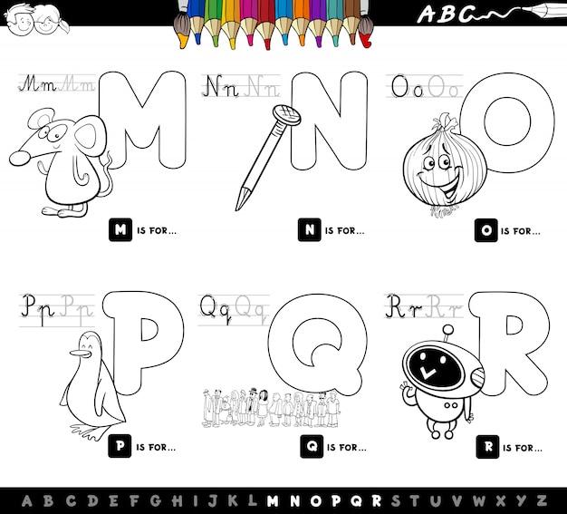 Conjunto educativo del alfabeto letras mayúsculas