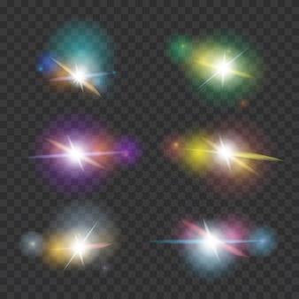 Conjunto de efectos de destello de lente
