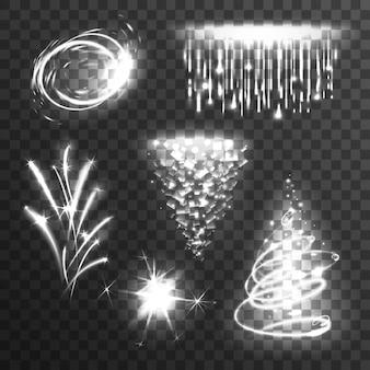Conjunto de efectos de luz blanco
