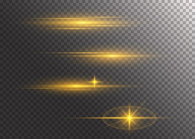 Conjunto de efectos de luz brillante