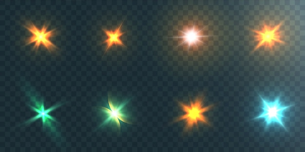 Un conjunto de efectos de luz.
