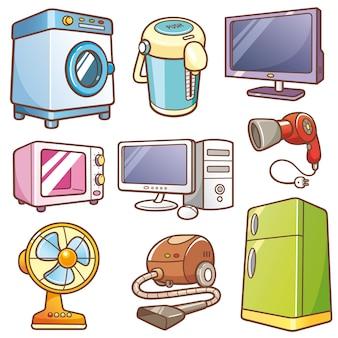 Conjunto de electrónica para el hogar