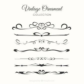 Conjunto elegante de adornos vintage