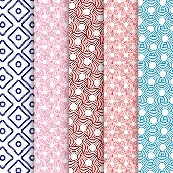 Conjunto elegante de patrones chinos