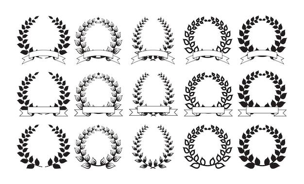 Conjunto de elegantes marcos redondos.
