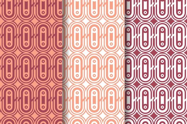 El conjunto de elegantes patrones geométricos abstractos utiliza colores pastel para diversos fines de diseño