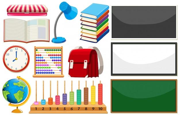 Conjunto de elementos de aprendizaje.