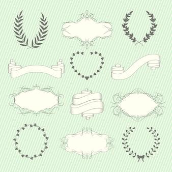 Conjunto de elementos de la boda