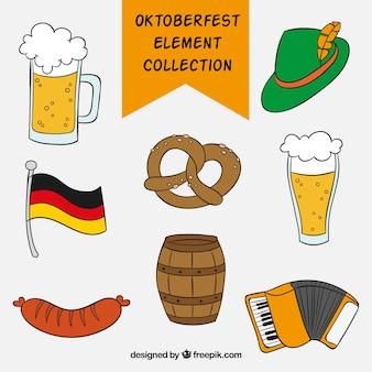 Conjunto de elementos de celebración alemana