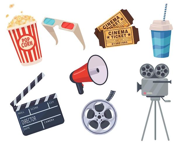 Conjunto de elementos de cine