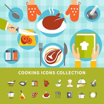 Conjunto de elementos de cocina