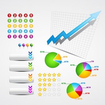 Conjunto de elementos comerciales y web útiles