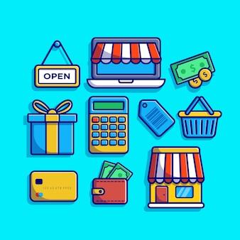 Conjunto de elementos de compras