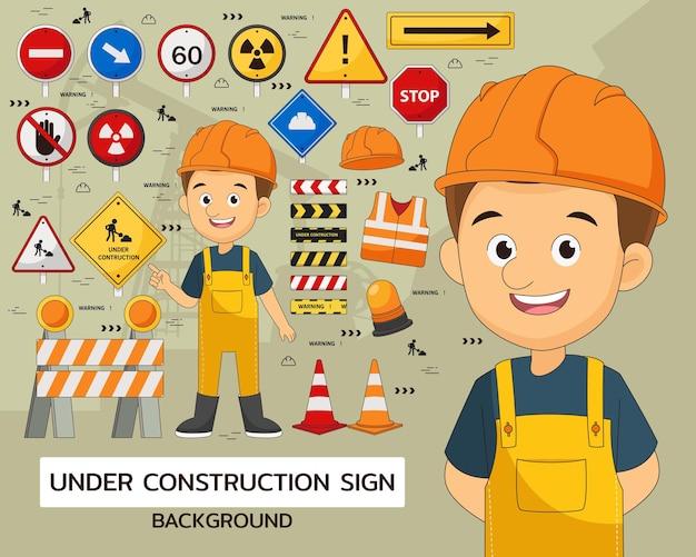 En conjunto de elementos de construcción