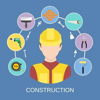 Conjunto de elementos de constructor de ingeniero