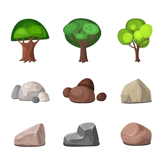 Conjunto de elementos de decoración