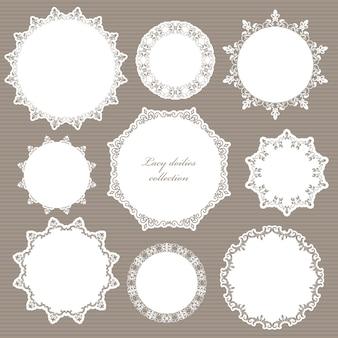 Conjunto de elementos decorativos para boda.