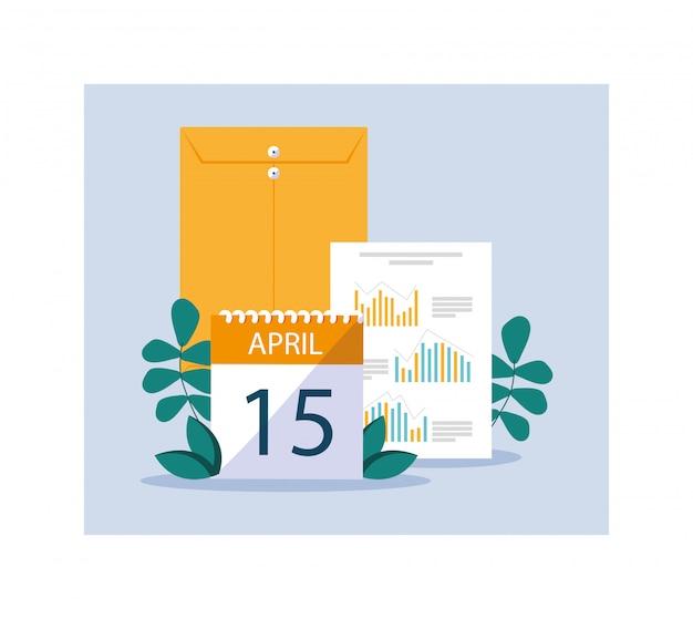 Conjunto de elementos del día fiscal