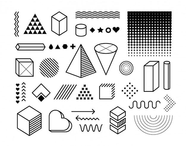 Conjunto de elementos de diseño. elementos gráficos de moda