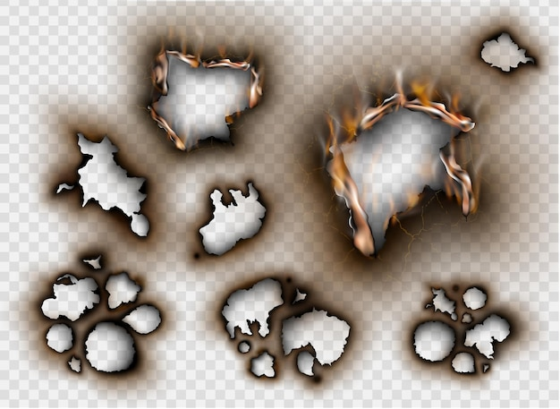 Conjunto de elementos de diseño de papel rasgado con lugar para texto