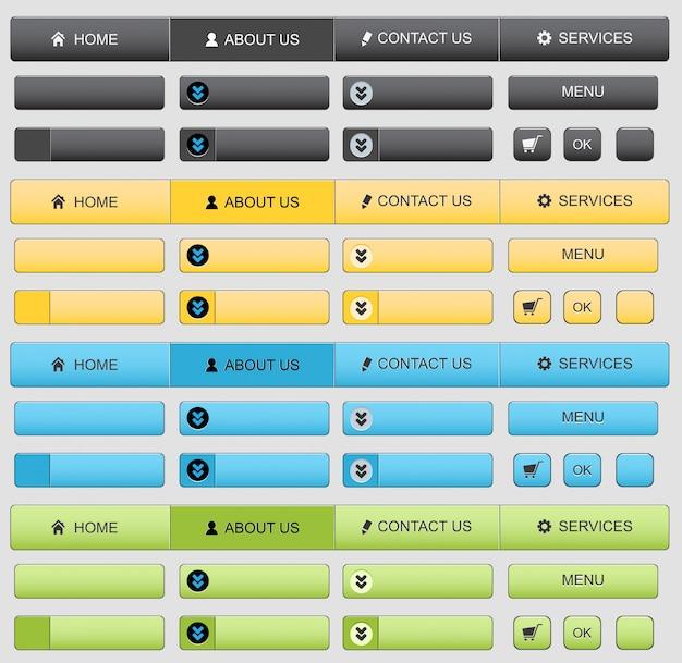 Conjunto de elementos de diseño web