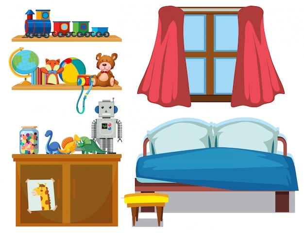 Conjunto de elementos de dormitorio