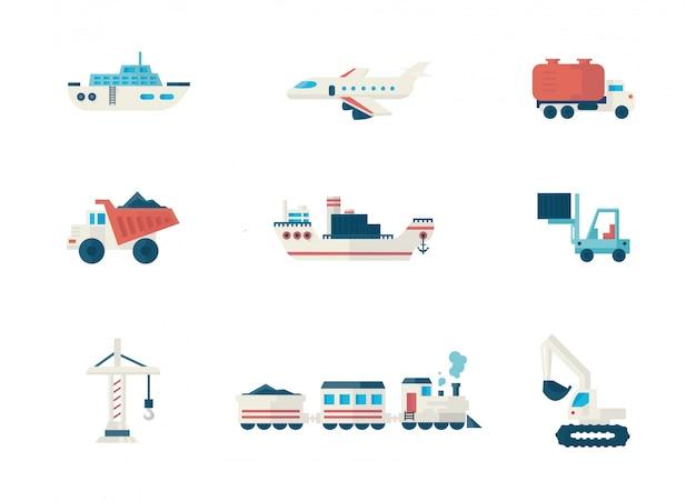 Conjunto de elementos de entrega y logística.