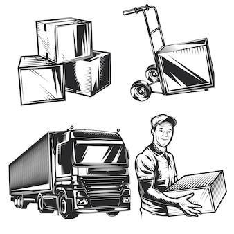 Conjunto de elementos de entrega