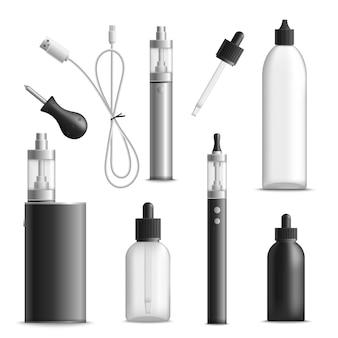 Conjunto de elementos esenciales de vaping