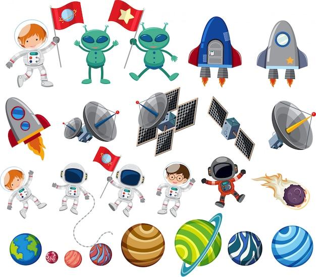 Conjunto de elementos espaciales