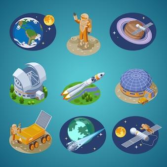 Conjunto de elementos de espacio isométrico