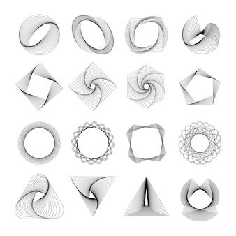 Conjunto de elementos geométricos abstractos vector