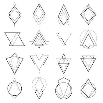 Conjunto de elementos geométricos minimalistas.