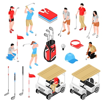 Conjunto de elementos de golf