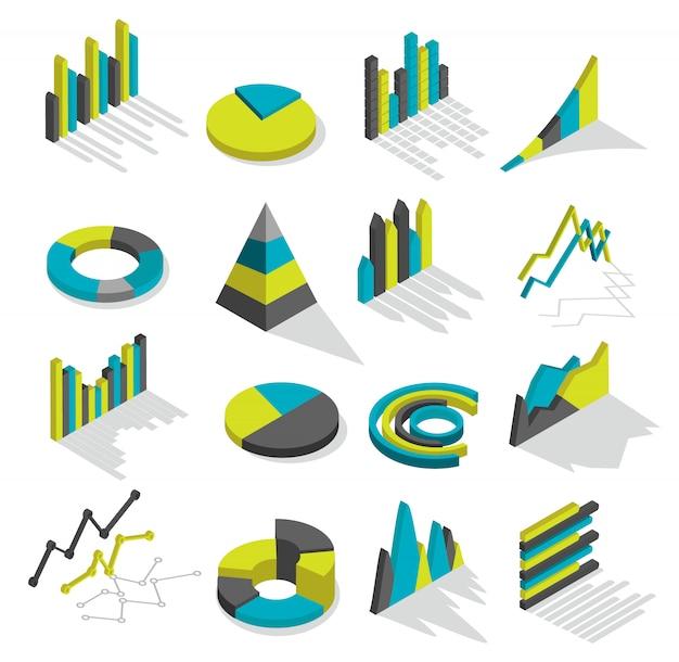 Conjunto de elementos de gráficos isométricos